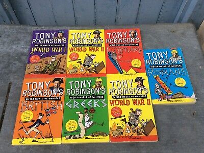 Tony Robinson Wierd World Of Wonders, Set Of 7 History Books