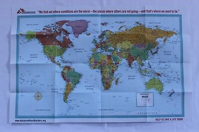 Lot of 20 Rand McNally World Map Doctors Without Borders