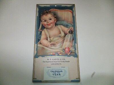 """1936  M. T. Garvin Co., Lancaster, Pa Vintage Advertising Calendar"""