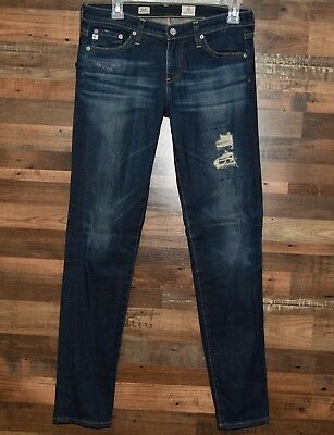 AG Adriano Goldschmied Stilt in 6 Years Skinny Cigarette Destroyed Jeans Size 27