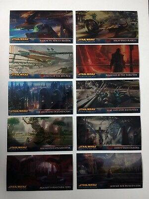 Star Wars Revenge of the Sith Widevision Retail Chrome Foil cards - Choose
