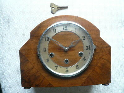 VINTAGE THE NORTHERN GOLDSMITHS Co WESTMINSTER CHIMING MANTEL CLOCK - FOR REPAIR