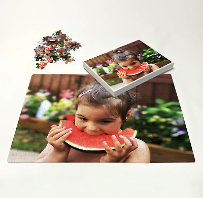 Personalised Photo on A5 A4 A3 Puzzle Print in Box - Custom Own Image on Jigsaw