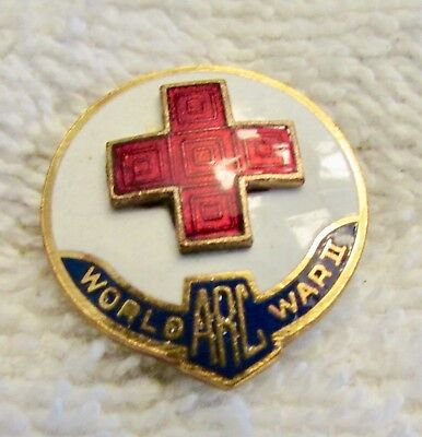 WWII American Red Cross Pin  Beautiful Enamel Excellent!