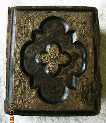 Antique CDV Carte De Vista Photo Photograph Album Civil War Era Picture Holder