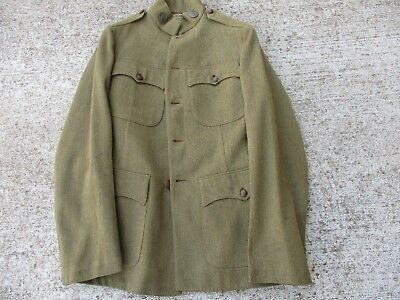 WWI US Army Brown Wool, Tailor Made Jacket and Matching Breeches