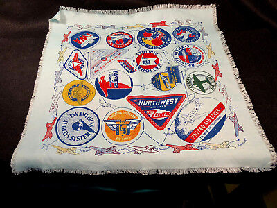 Vintage History AVIATION AIRLINE LOGO SCARF Early Airline Logos