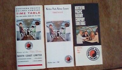 Northern Pacific Railway 1966 '67 & '69 - Railroad Timetable- Lot of 3 CLOSEOUTS
