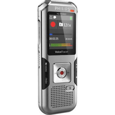 New Philips DVT4010 VoiceTracer Digital Voice Recorder 8GB WAVE MP3 SD Stereo