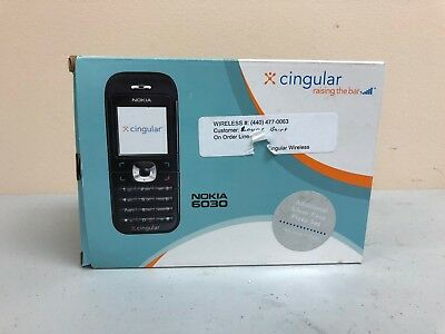 Nokia 6030 Cell Phone Kit - Phone, Case, Chargers, Silver Face Plate