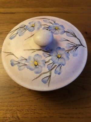 Radford England Hand-painted Pottery Lidded Trinket Powder Bowl