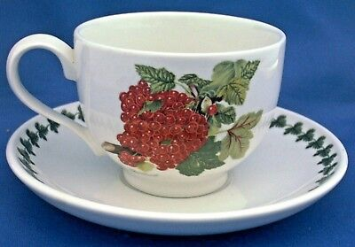 Portmeirion Pomona Tea Cup & Saucer Decorated With The Red Currant