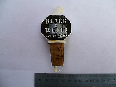Old Black And White Scotch Whisky Advertising Pourer,