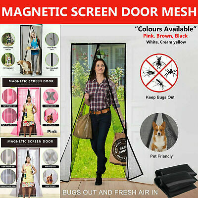 New Magic Curtain Door Mesh - Magnetic Hands Free Fly Mosquito Bug Insect Screen