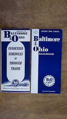 Baltimore & Ohio - B&O - 1950 & 1951 - Timetables - Lot of 2 - *CLOSEOUT*