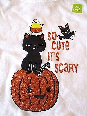 Crazy 8 So Cute It's Scary Sparkly Halloween Top Size 18-24 months NEW