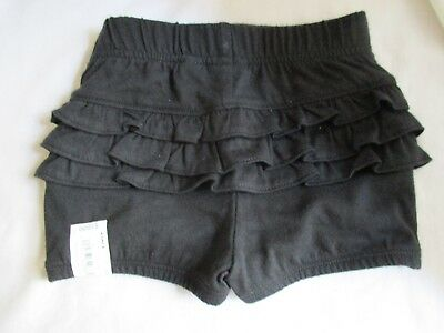 Jumping Beans Baby Girls Size 9 months Cotton Black Ruffle Shorts New