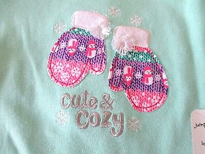Jumping Beans 24 months Mint Green cute and cozy bodysuit mittens New
