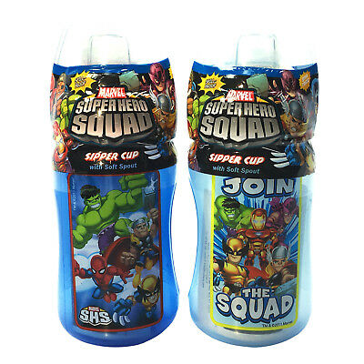 2pk Marvel Super Hero Squad Spill Proof Sipper Cup with Soft Spout