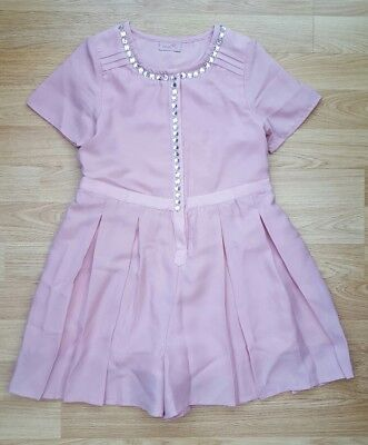 Next stunning pink playsuit  age 9 -worn once