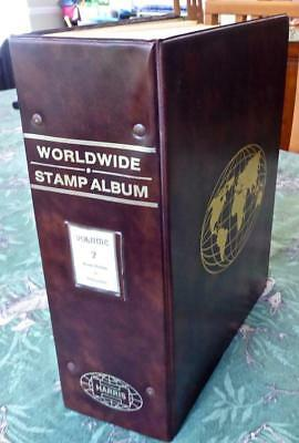 Worldwide Stamp Collection in an Old Gr-Ph Harris Album - 400 Images No Reserve!