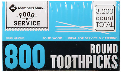 Daily Chef Round Toothpicks (4 boxes, 800 count each).