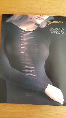 40 Denier Black Sheer & Opaque Body-Stocking Bodycon Top Blouse - One Size