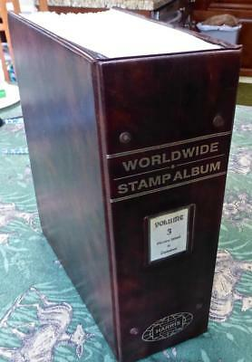 Worldwide Stamp Collection in an Old Pi-Z Harris Album - 375 Images  No Reserve!