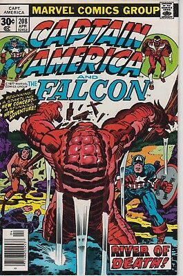 Captain America 208 - 1977 - 1st appearance of Arnim Zola -Cents issue Very Fine