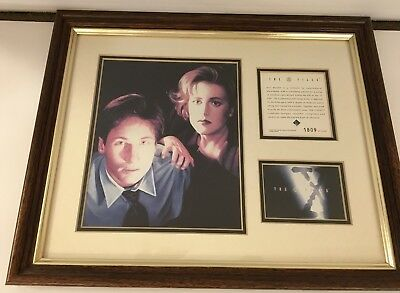 Rare X Files Mulder Scully Framed Art X-files Numbered 1809 of 15,000
