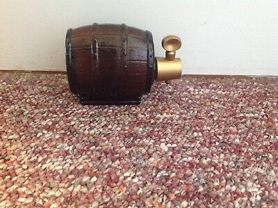 Vintage Avon Oland After Shave on Tap Brown Glass Barrel Design Empty 5 ounce