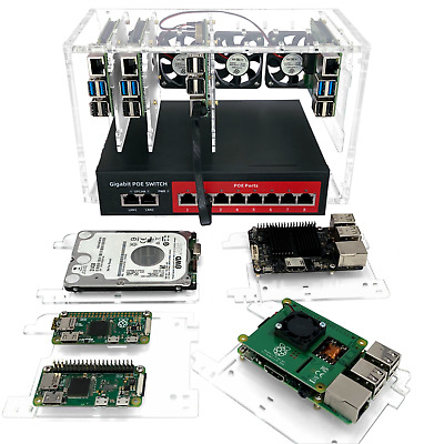 8 Slot Cluster Cloud: Stackable Cluster For Raspberry Pi 3B+