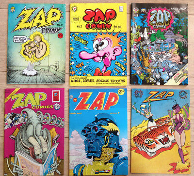 ZAP comics issue 0, 2, 5, 6, 7, 10 - Rare!