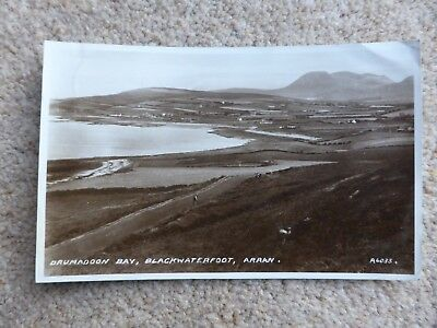 Valentine's Postcard Drumadoon Bay, Blackwaterfoot, Arran A6035 - Posted