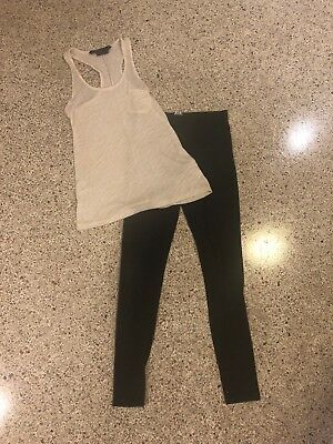 Forever 21 Size XS Grey Leggings & Tank Top