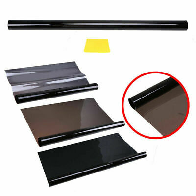 Black Glass Window Tint Shade Film VLT 1% Auto Car House Roll 50cm*6M Sticker