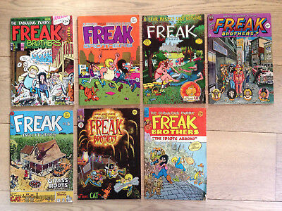 The Fabulous Furry Freak Brothers issue 1, 2, 3, 4, 5, 7, 8