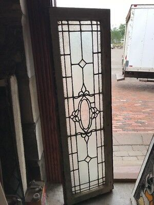 SG 2428 antique textured glass transom window 16 3/8 x 54.5