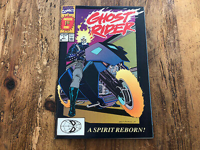 Ghost Rider # 1 1990 Marvel 1st app Danny Ketch, 1st App Deathwatch KEY ISSUE !