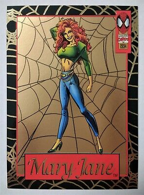 1994 Fleer Amazing Spider-Man Limited Edition Gold Web card 2 of 6 Jumbo Packs
