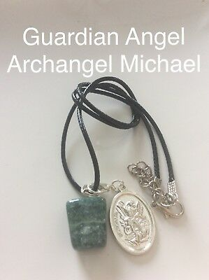 Code 732 Indian Agate Archangel Michael infused necklace your choice of 1 Piece