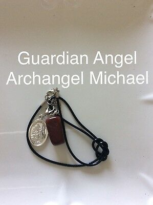 Code 269 Archangel Michael Red Jasper Infused necklace Root Chakra Spiritual New