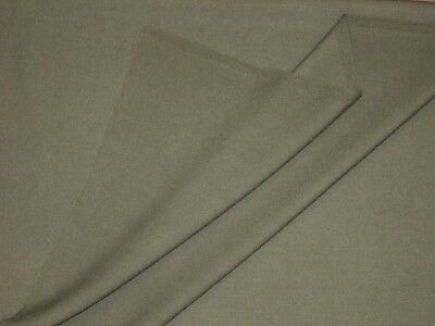 1.25yd Olive 100% ENGLISH Wool Twill Suiting Fabric Pant Tailoring Sewing $65yd