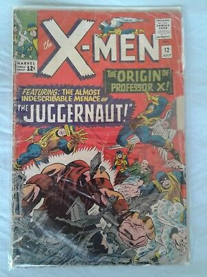 1965 X-MEN # 12 - MARVEL COMICS; first appearance of Juggernaut  Fair minus