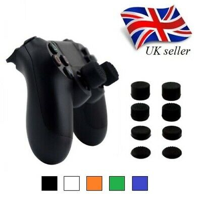 (BLACK) Thumbgrips Raised Grip for Accuracy Thumb sticks | 1 Pair Fits PS4 / PS3