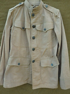 PRE WWI KAKI UNIFORM JACKET WITH NEW YORK STATE GUARD BUTTON on SHOULDER