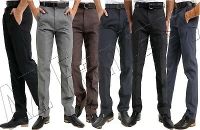MENS TROUSERS OFFICE Business Work Formal Casual Smart Big ...