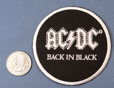 ACDC BON SCOTT BLACK ICE IRON ON PATCH FREE IRON ON WITH ANY CAP PURCHASE