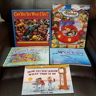 Lot of 10 Children's Science Picture Books ages 4-8. Education Homeschool PB+ HC