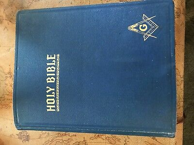 HERTEL Masonic edition cyclopedic indexed red letter edition Holy Bible